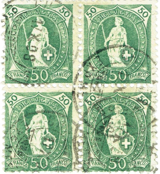 SBK 98A Stehende Helvetia 50Rp grün 98a-3_10