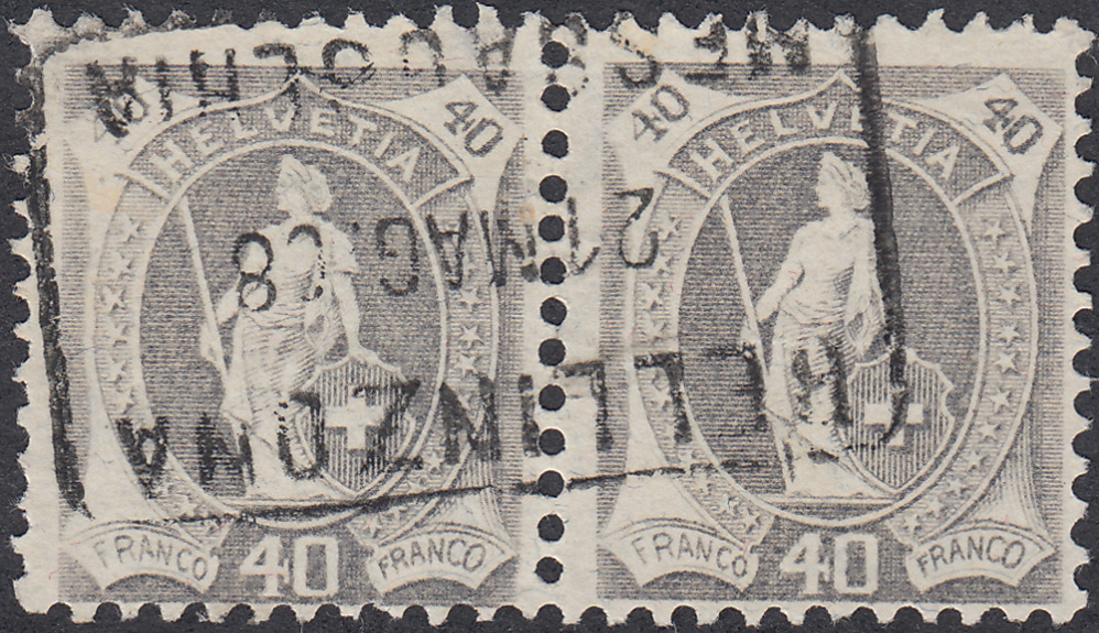 SBK 97A, Stehende Helvetia 40 Rappen Sth_4010