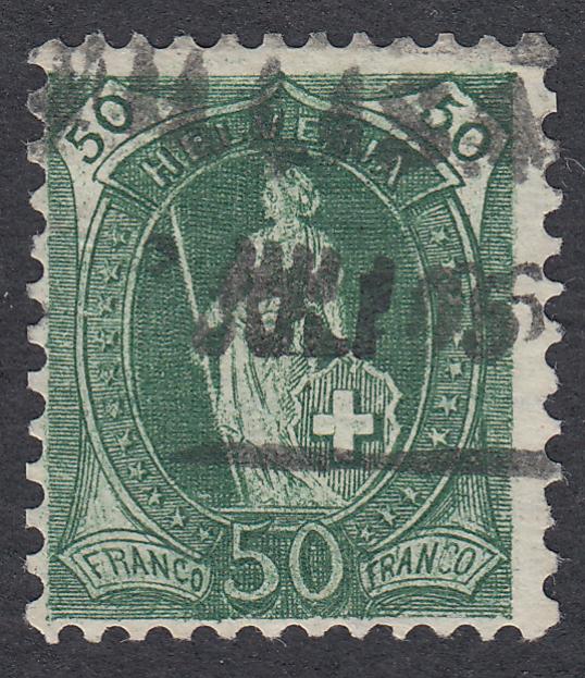 SBK 90A Stehende Helvetia 50Rp. grün Sth_5010