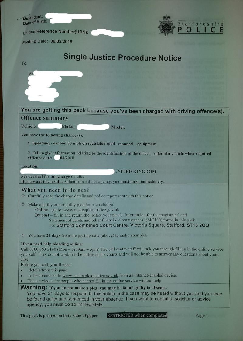 NIP - speeding with photo evidence - Page 2 Single11
