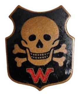 Médaille Tête de mort avec W 2019-199