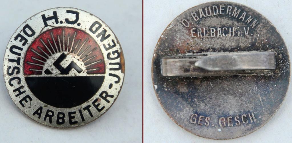 Badge Deutsch arbeiter Jugend 2019-208