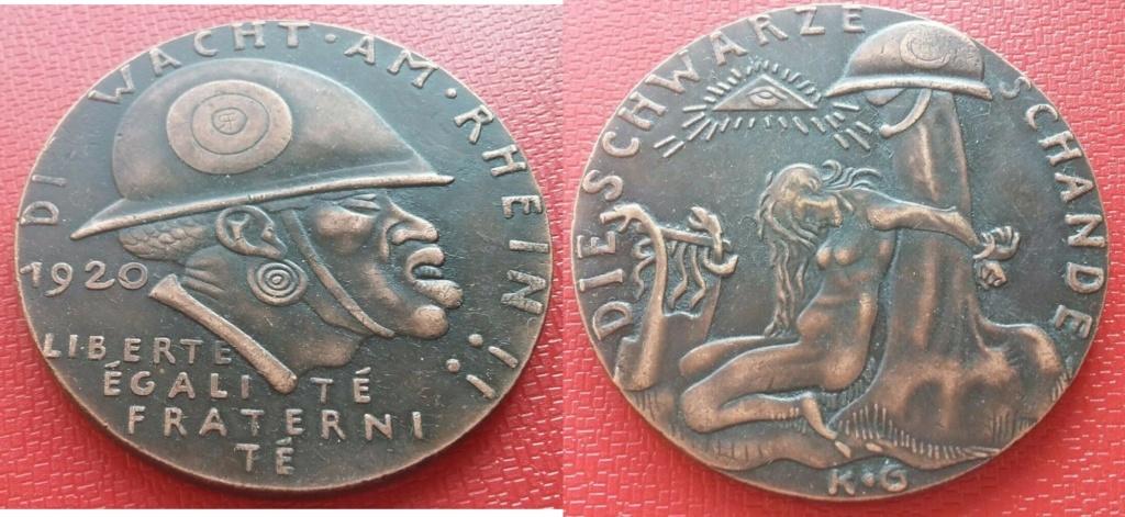 medaille allemande 1920 occupation de la Rhénanie....les prémices! 2019-240