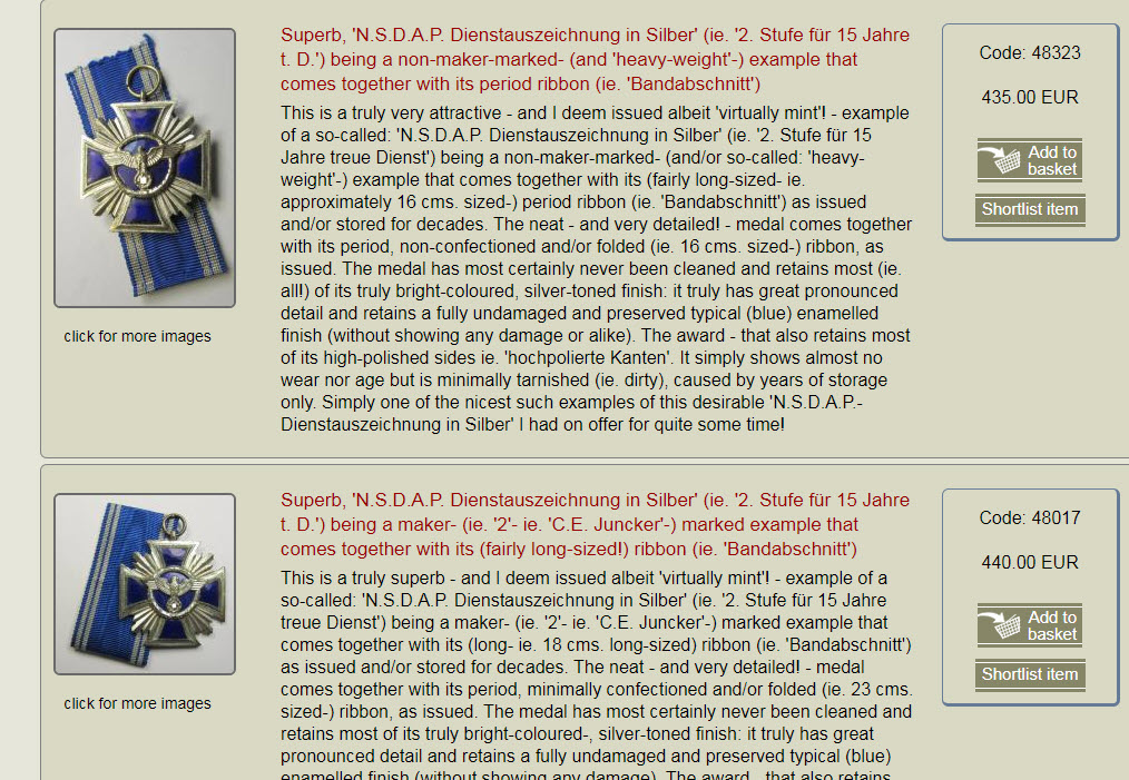 Médaille NSDAP 15ans 2020-012