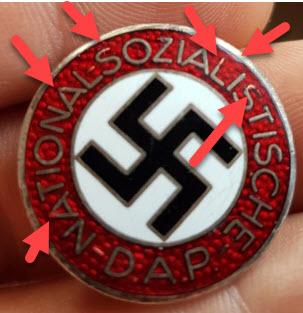 insigne du NSDAP attache boutonnière  2020-019