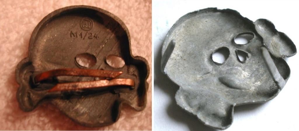 Authentification. Kragenspiegel SS et Totenkopf de Schirmmütze 2020-093
