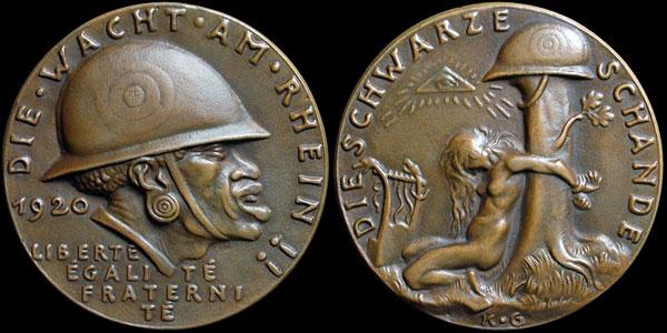 medaille allemande 1920 occupation de la Rhénanie....les prémices! K-262a10