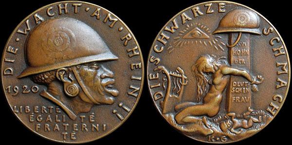 medaille allemande 1920 occupation de la Rhénanie....les prémices! K-263610