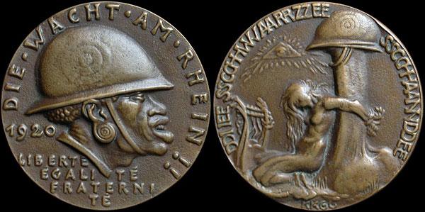 medaille allemande 1920 occupation de la Rhénanie....les prémices! K-264610