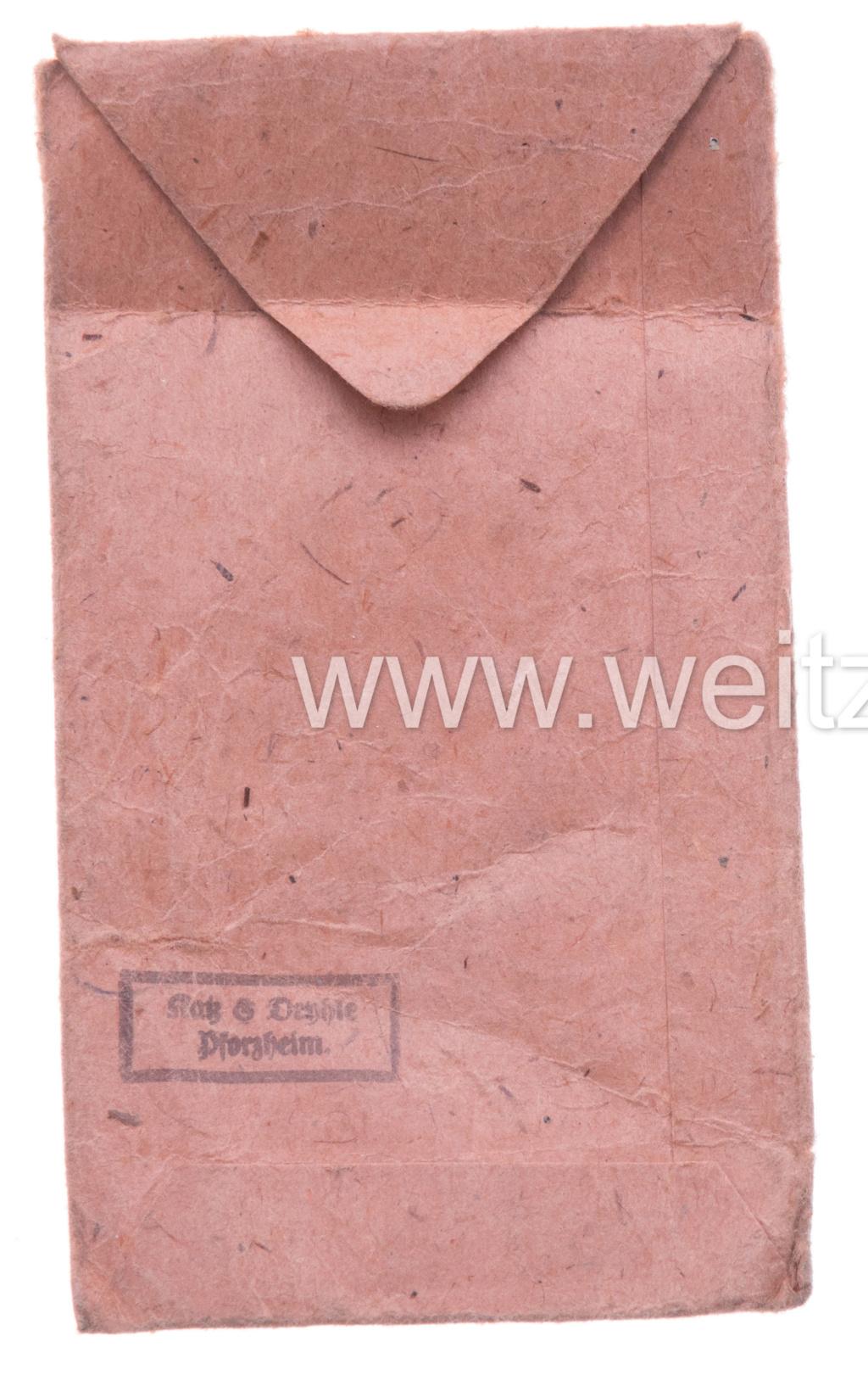 Authentification sachet Médaille front de l'est Sachet10