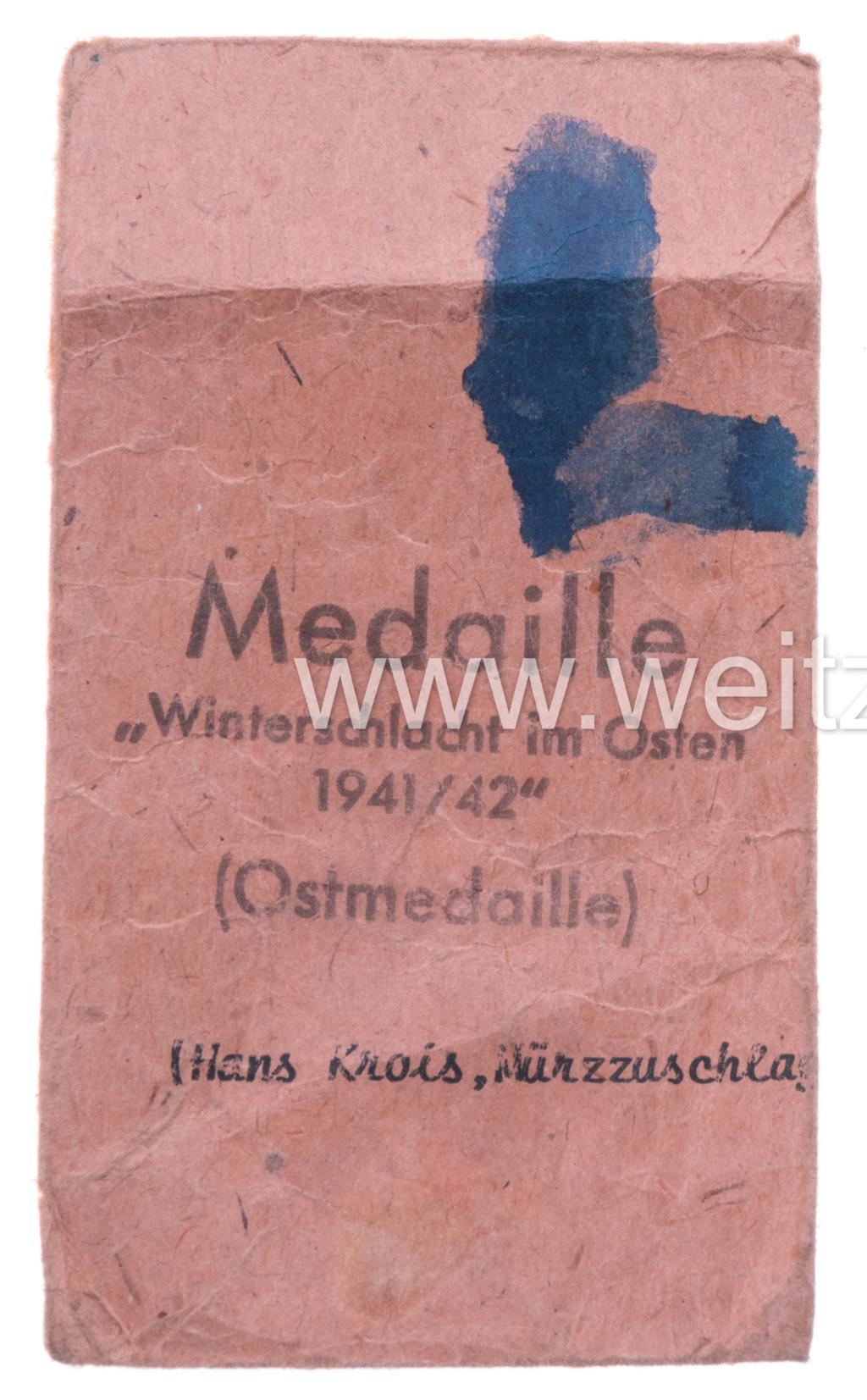 Authentification sachet Médaille front de l'est Sachet11