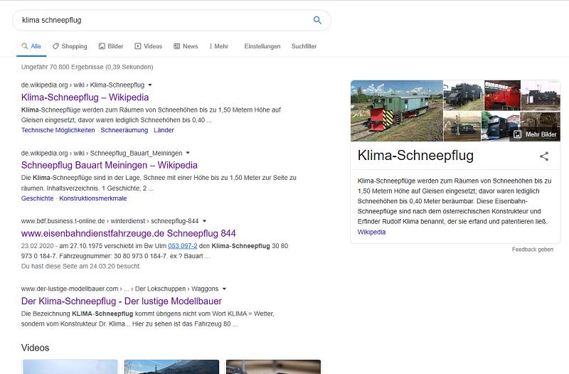Klima-Schneepflug auf 3achs. Tender, M 1:16 Google10
