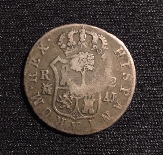2 reales 1823. Fernando VII. Resello Costa Rica Image110