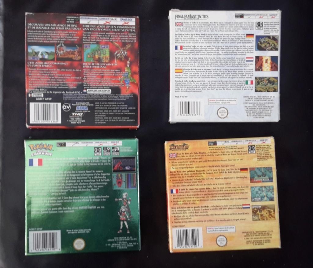 [ESTIM] Lot Gameboy Advance + Jeux 20191010