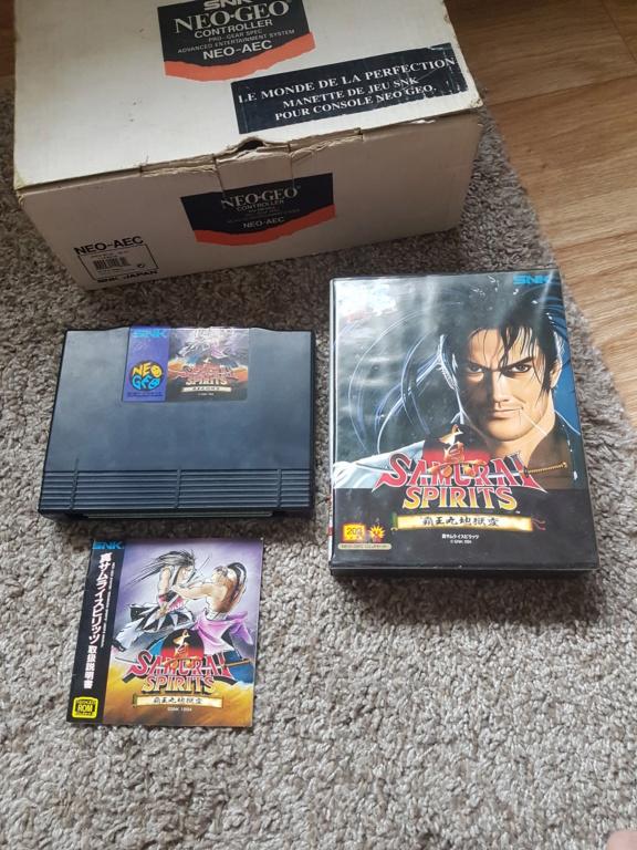 [ESTIM] Neo Geo en boite + Samurai spirit complet + Manette en boite 20200712
