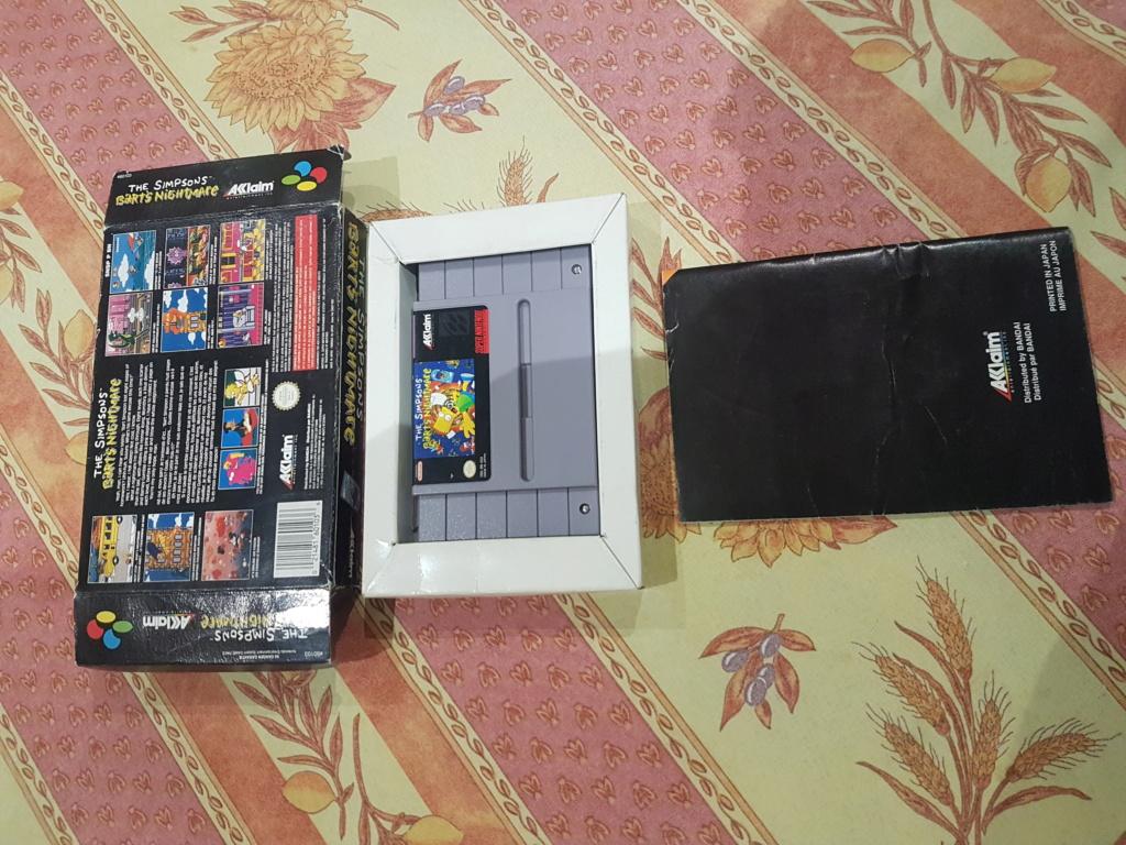 [VENTE] Jeux Super Nintendo Bart Nightmare FAH 35 FDPIN Cartouche USA   20200820
