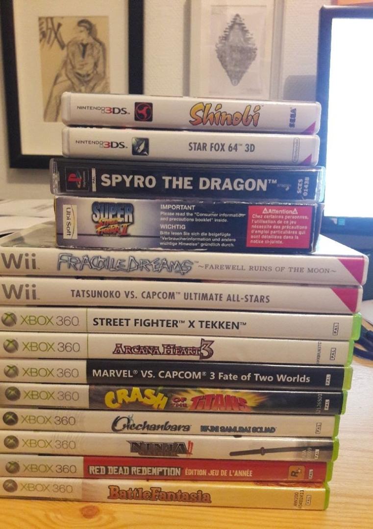 [ESTIM] Jeux Wii : Fragile Dreams, Tatsukono, Bon titres Xbox 360, GBA et PS1 Complet 20200910