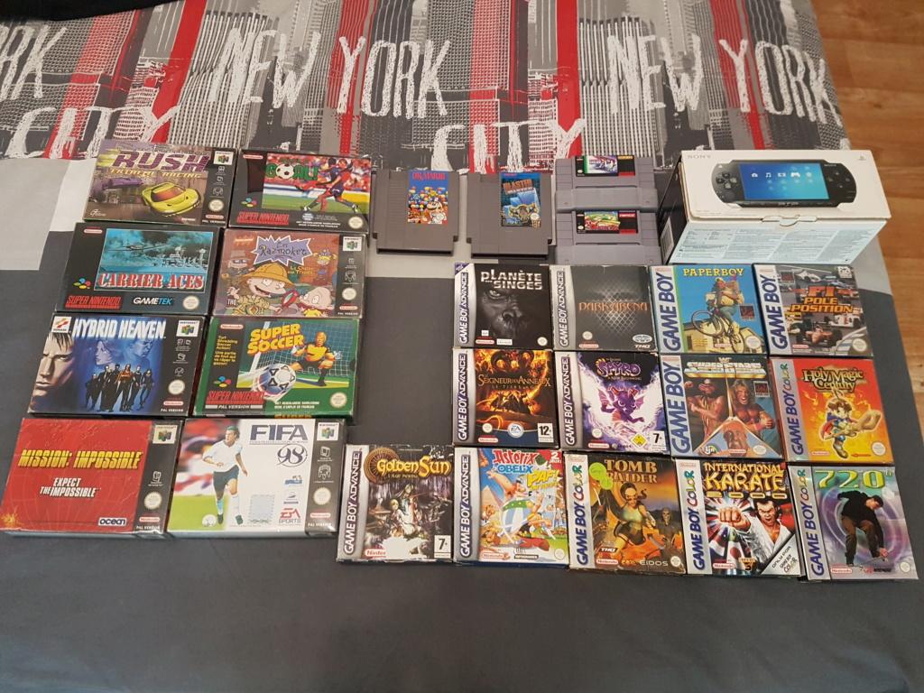La brocante de l'étang. Bienvenue sur K-2L : Vente NES SNES GB(C,A) N64 GAMECUBE 20210923