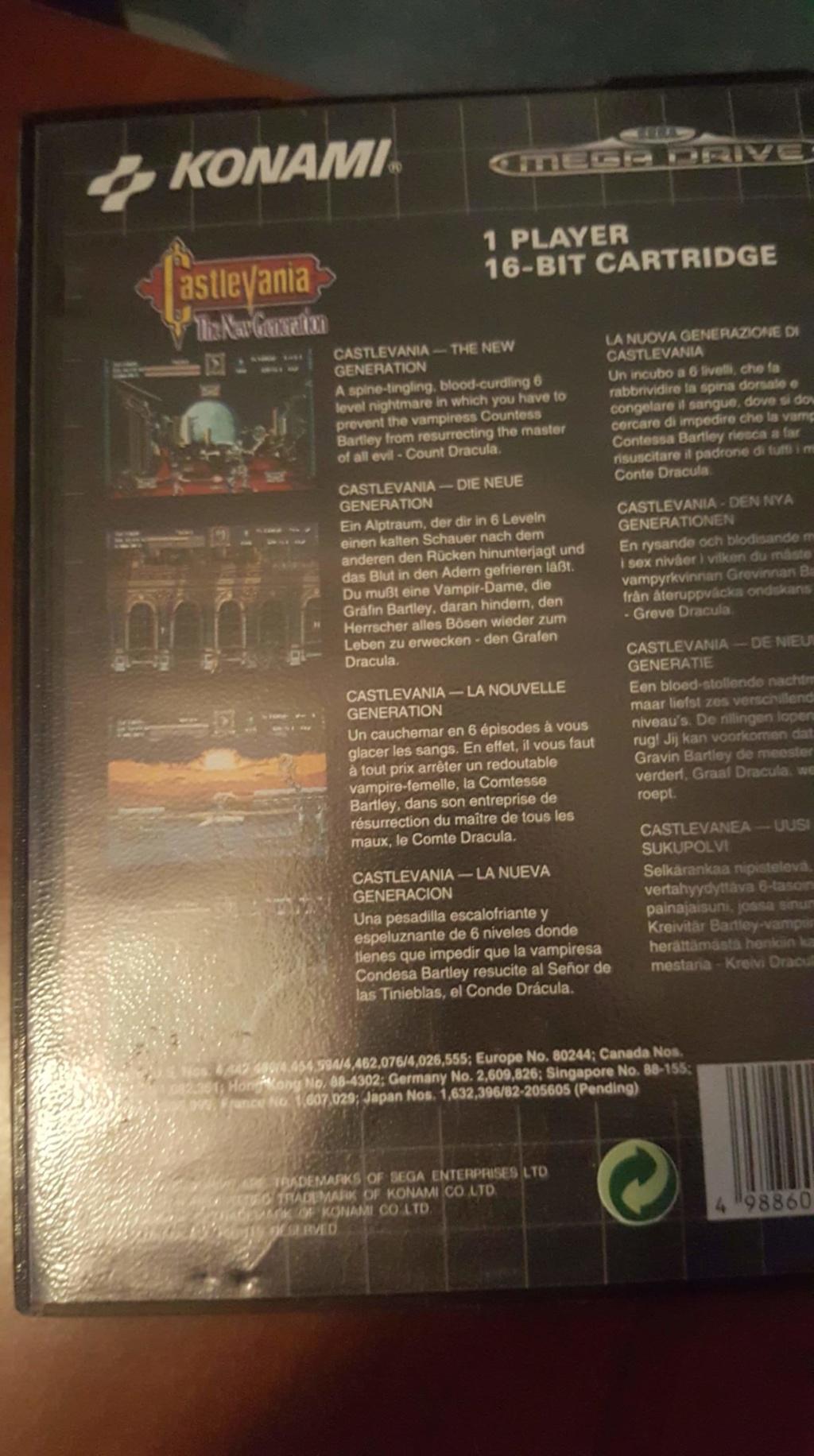 [ESTIM] Castlevania Megadrive Complet Receiv12