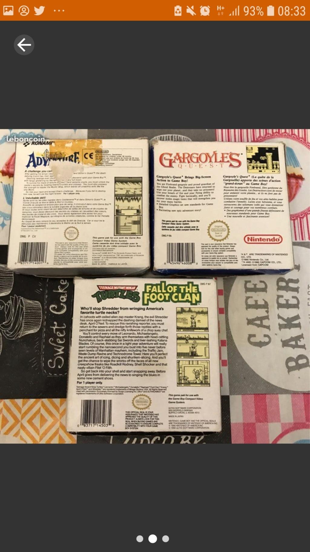 [ESTIM] Jeux Gameboy en boite Castlevania Gargoyle quest et Tortue Ninja Screen27