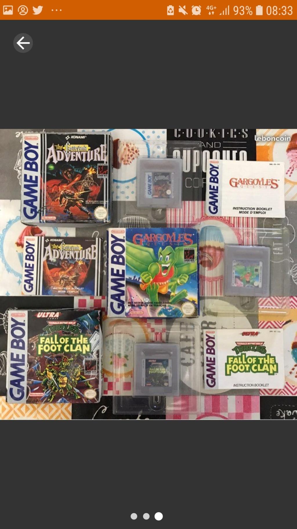[ESTIM] Jeux Gameboy en boite Castlevania Gargoyle quest et Tortue Ninja Screen29