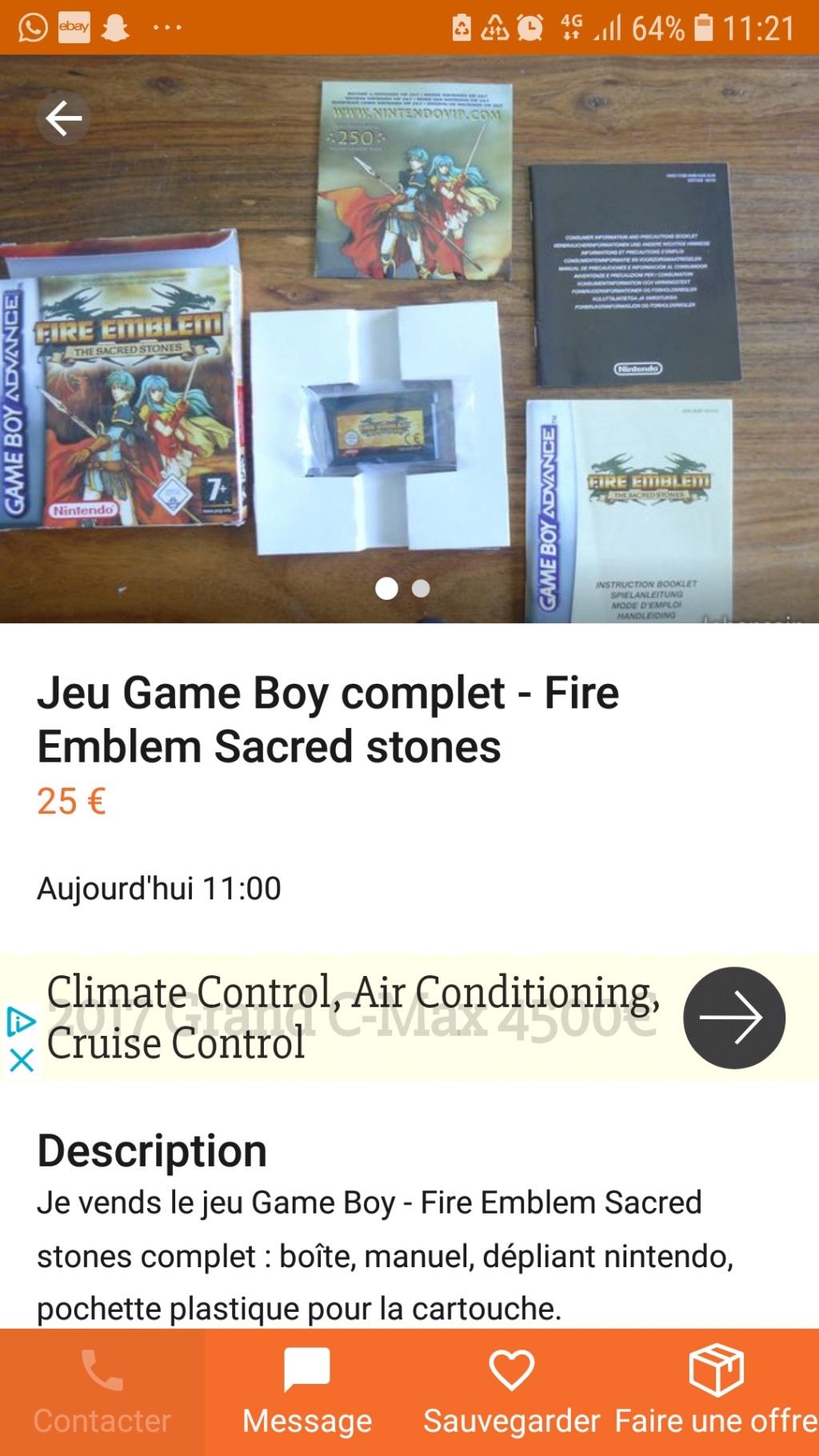 [ESTIM] Lot Gameboy Advance + Jeux Screen32