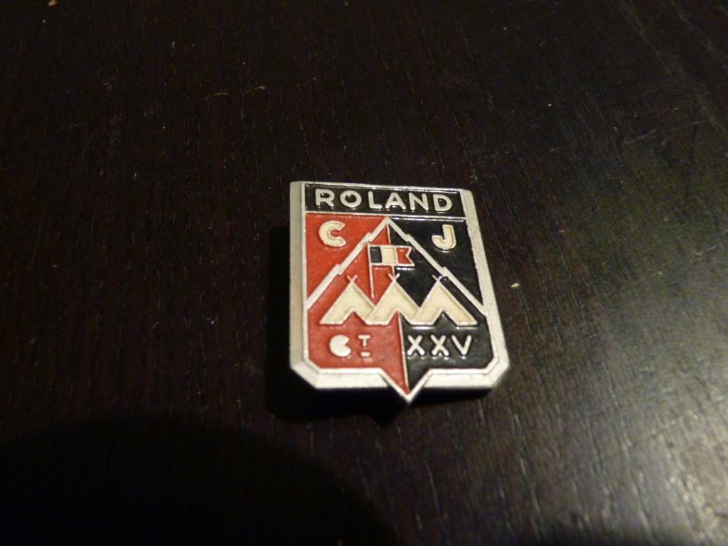 authentification insigne CJ ROLAND P1070315