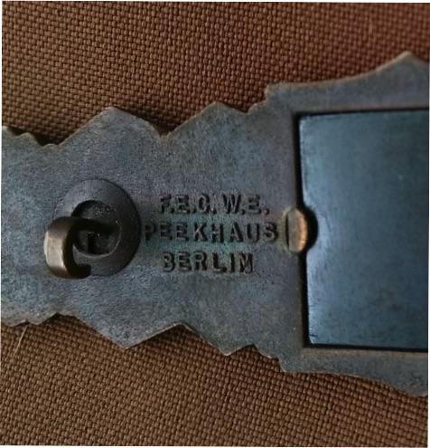 Agraffe de combat rapproché et insigne de combat d'infanterie Arrier10