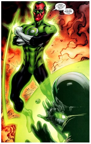 Sinestro : In blackest Day, In brightest Night, Beware you Fear made into Light Encycl10