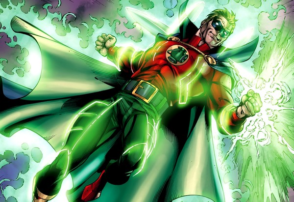 "Alan Scott - ""... For the dark things cannot stand the light of the Green Lantern"" Rco02111"