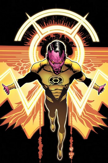 Sinestro : In blackest Day, In brightest Night, Beware you Fear made into Light Sinest10