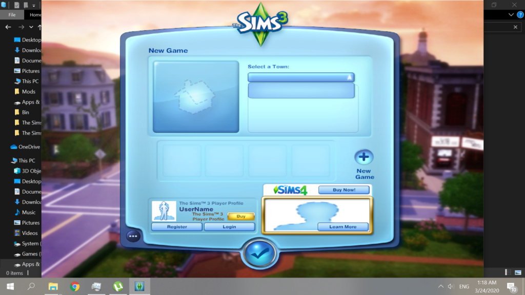 I'm having issues with The Sims 3 - start up screen disappeared. [SOLVED] Sims_310
