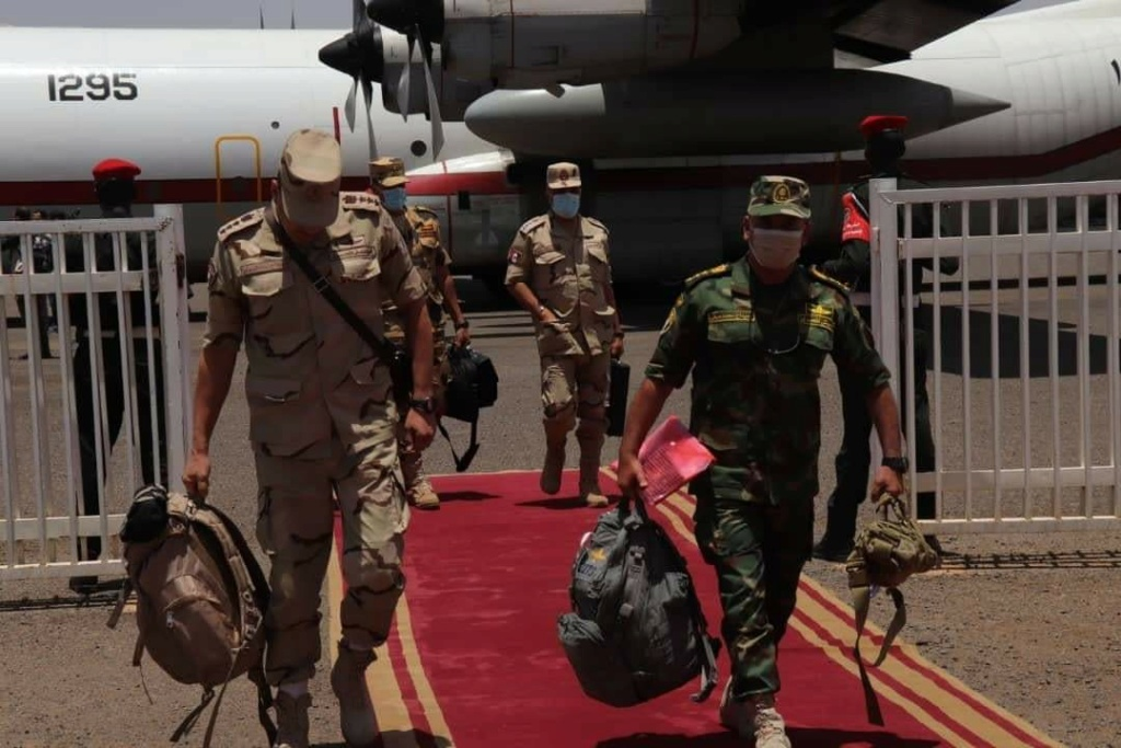 Egypt's joint military exercises with foreign countries. E16mis10
