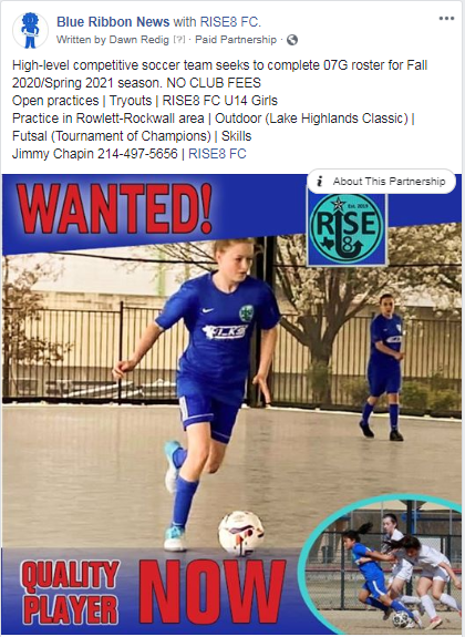 RISE8 FC 07G EAST OpenPractices! Competitive play&NOCLUBFees Rise8_11
