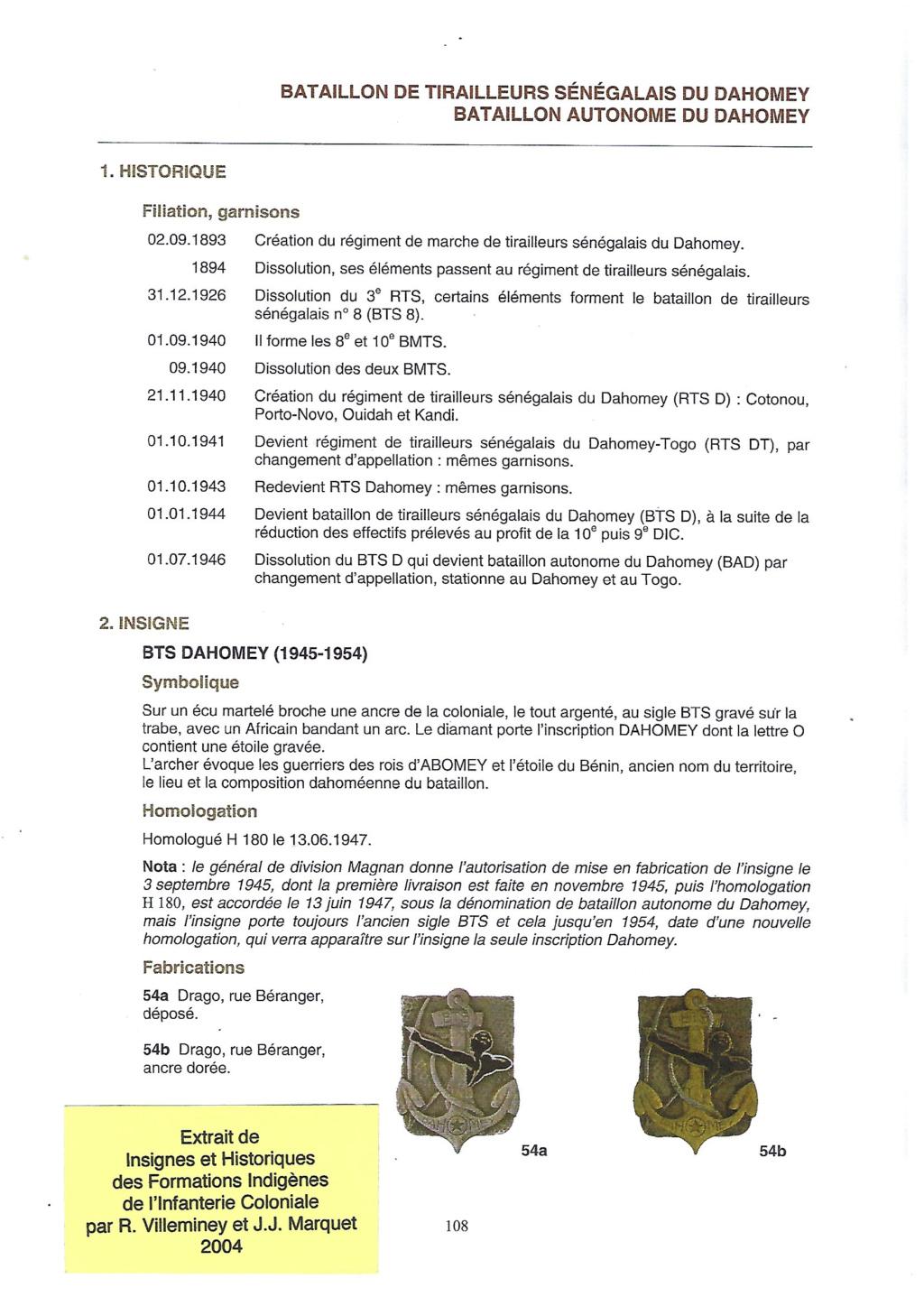 RTS du Dahomey Armée d'Armistice Dahome10