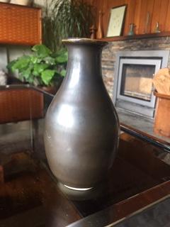 Small Glazed Vase Marked EB Img_2014