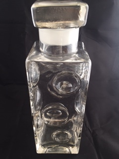 Fab Circles Decanter in Clear Glass - Maybe Czech? Img_3510