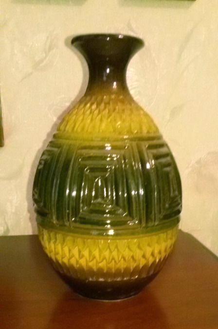 Yellow-green Soviet or German vase - Bay? 410