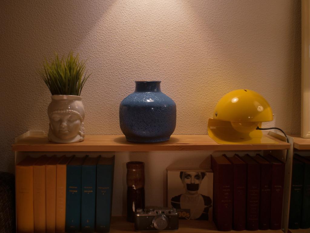 Blue vintage vase from the Soviet Union P1020811