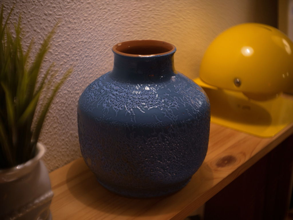 Blue vintage vase from the Soviet Union P1020910
