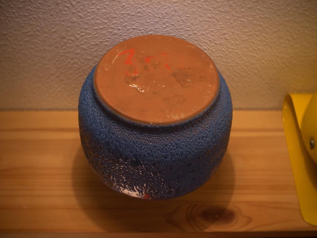 Blue vintage vase from the Soviet Union P1020913