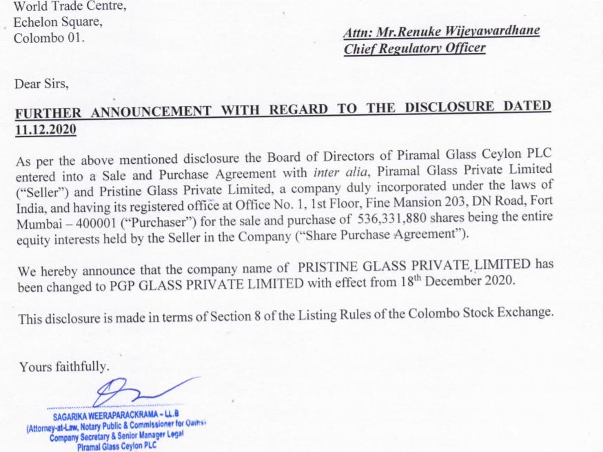 PIRAMAL GLASS CEYLON PLC (GLAS.N0000) - Page 2 Glas10