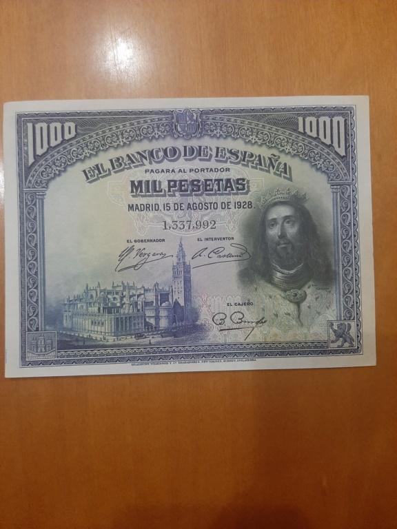 Billetes 1000 pesetas 1928 20210111