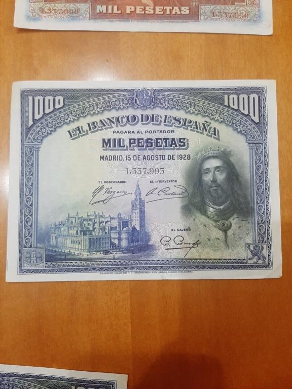 Billetes 1000 pesetas 1928 20210112