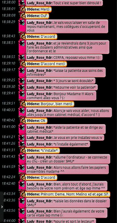 [C.H.U] Rapports d'actions de Lady_Rose_Rdr Rp_611