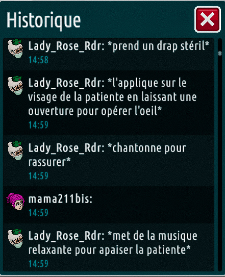 [C.H.U] Rapports d'actions de Lady_Rose_Rdr Suite_15
