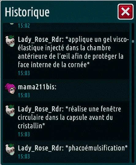 [C.H.U] Rapports d'actions de Lady_Rose_Rdr Suite_17