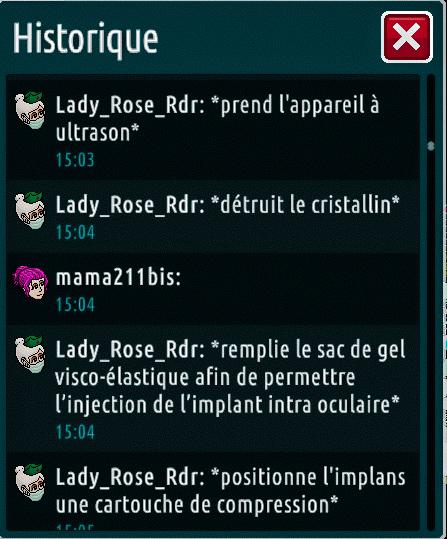 [C.H.U] Rapports d'actions de Lady_Rose_Rdr Suite_18