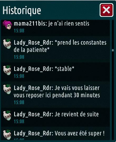 [C.H.U] Rapports d'actions de Lady_Rose_Rdr Suite_22