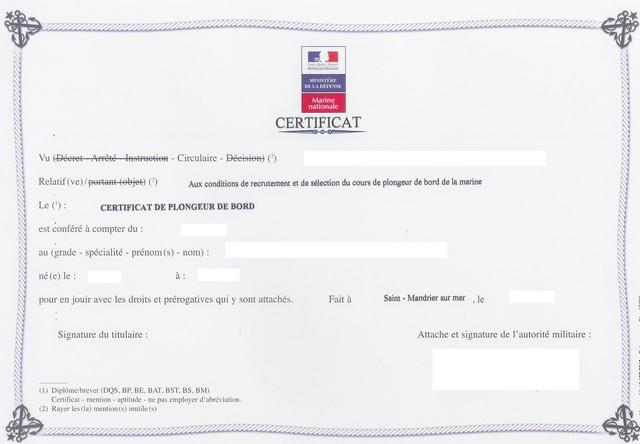 [Les écoles de spécialités] ÉCOLE DE PLONGEUR DE BORD - Page 2 Diplom10
